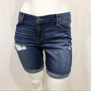 Ava & Viv Distressed Bermuda Shorts